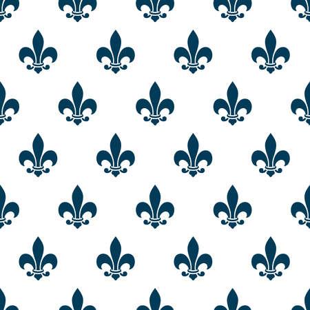 Fleur de lys seamless pattern. Zdjęcie Seryjne - 38639573