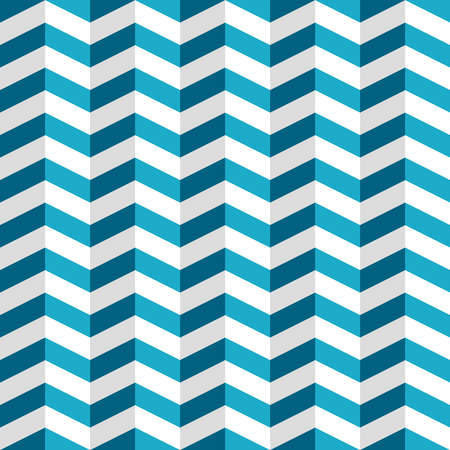 Seamless pattern with blue and white chevron