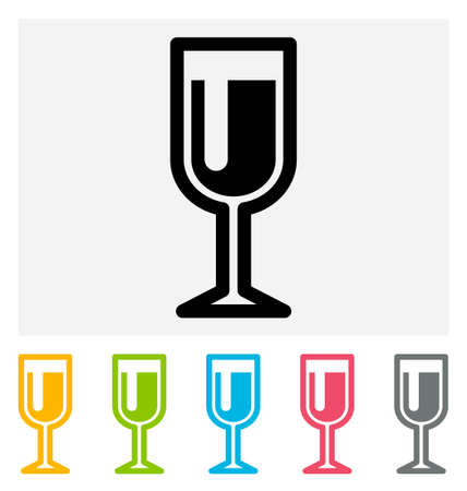 wineglass: Wineglass Icon isolated on gray and white