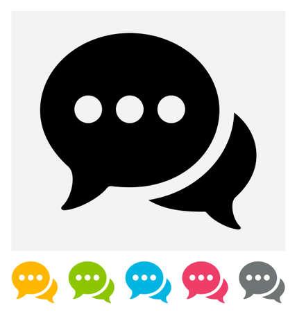 dialogo: Icono de chat aislado en gris y blanco