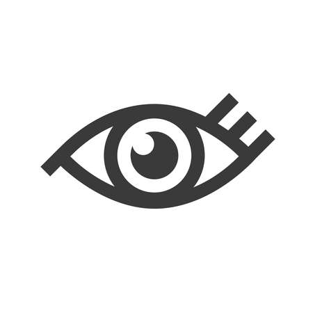 black eye: Black eye icon isolated on white