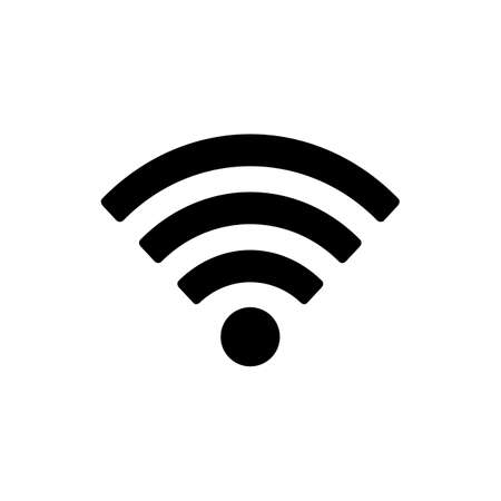 wireless hot spot: Wifi icon isolated on white