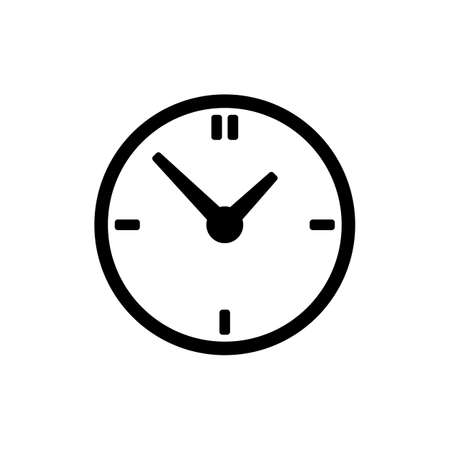 interval: Clock icon isolated on white