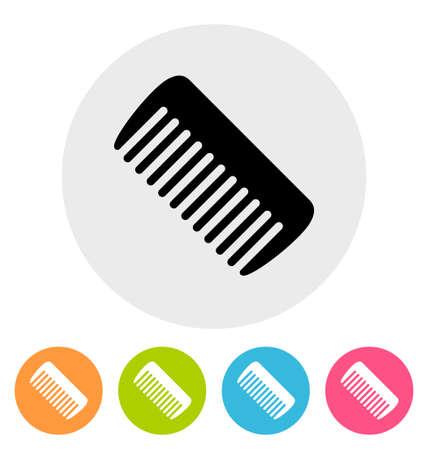 plastic comb: Comb icon isolated on white