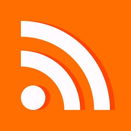 feeds: Flat RSS icon for web design Illustration