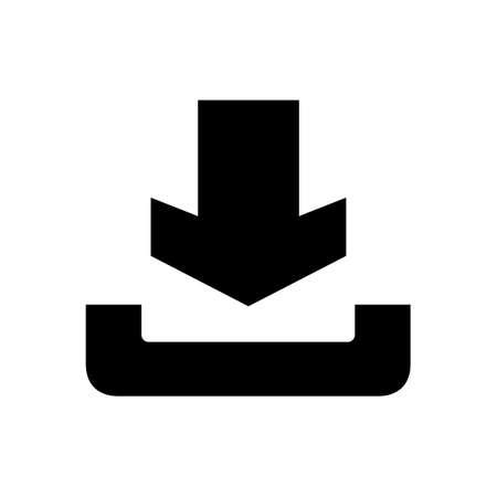 Download pictogram op een witte Vector Illustratie