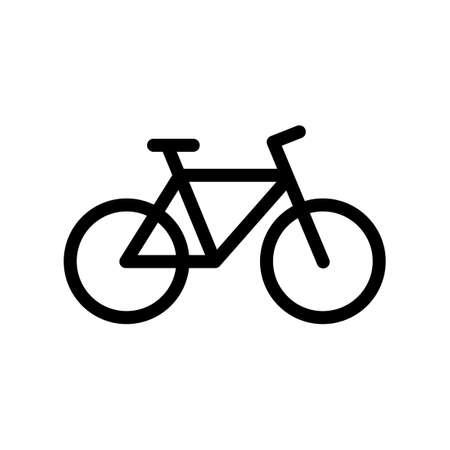 Black mountain bike icon isolated on white