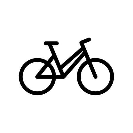 Black bike icon isolated on white