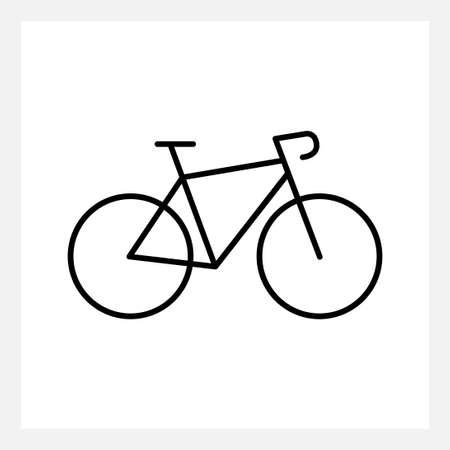 Black speed bike icon isolated on white