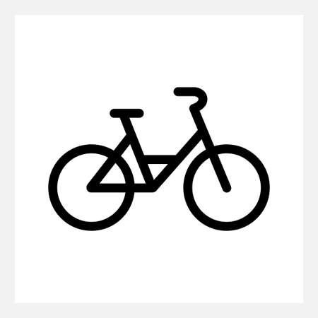 Black city bike icon isolated on white Illustration