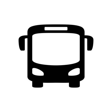 Black bus icon isolated on white Illustration
