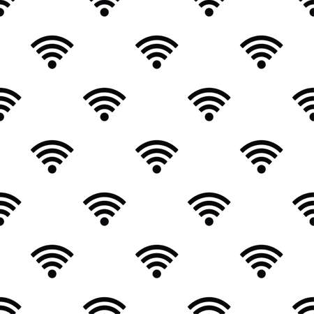 Seamless pattern with Wi-Fi symbol