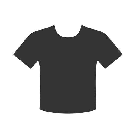 Black t-shirt icon isolated on white background