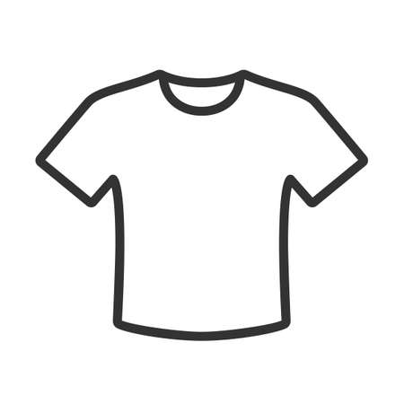 T-shirt icon isolated on white background Illustration