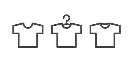 T-shirt icons isolated on white background