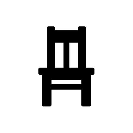 Black chair icon isolated on white Illustration