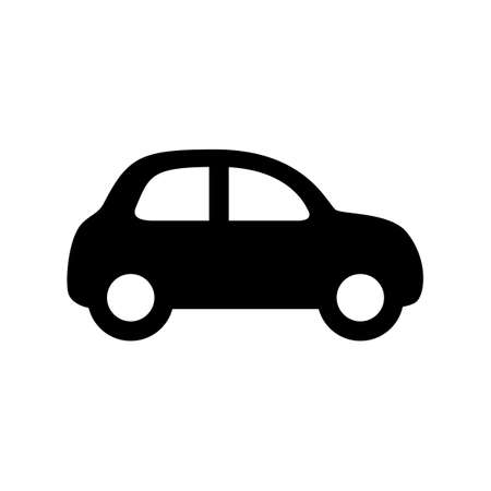 Black car icon isolated on white