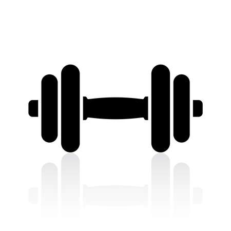 Black dumbbell icon