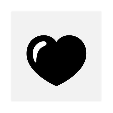 Shiny heart icon isolated on white Illustration
