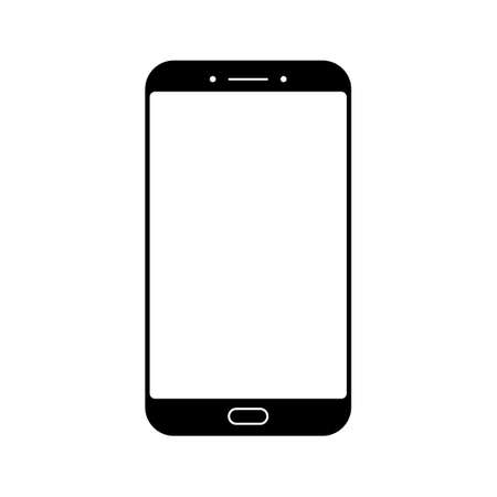A Smartphone icon isolated on white background. Illustration