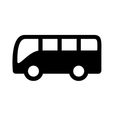 Vector bus icon isolated on white background illustration.
