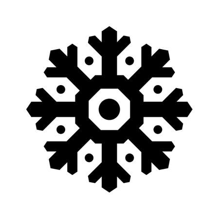 Vector snowflake icon isolated on white background