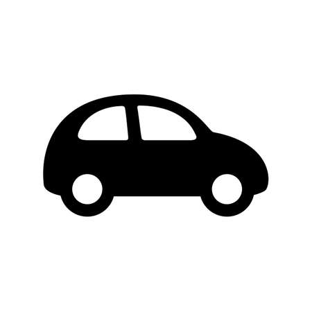 Black car icon isolated on white Stock Vector - 102693763