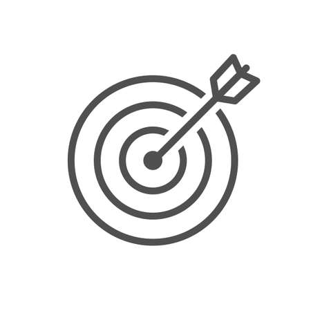 target line icon isolated on white Stock Vector - 127248905