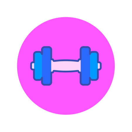Female fitness icon isolated on white background Çizim