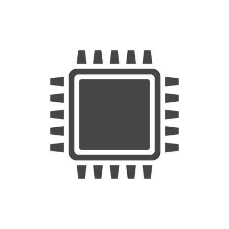 CPU chip icon isolated on white background