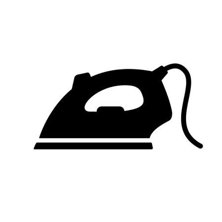 Black iron icon isolated on white Illustration
