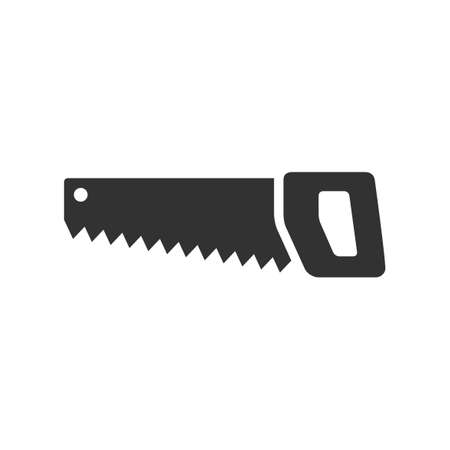 Hand saw icon isolated on white Vector Illustration