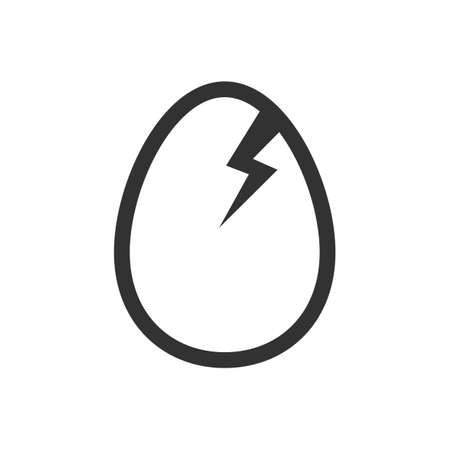 Broken egg icon isolated on white background