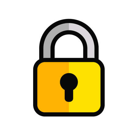 Lock icon isolated on white background