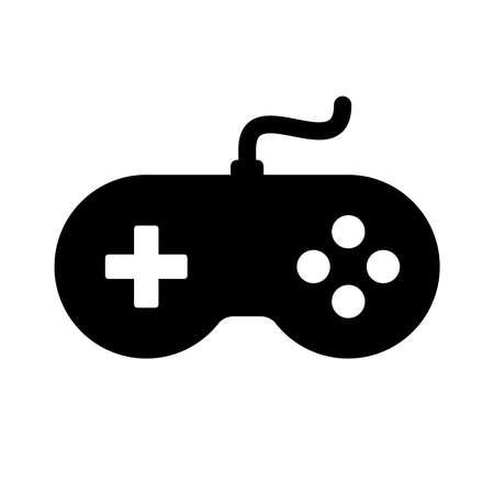 Gamepad controller icon isolated on white background Illustration