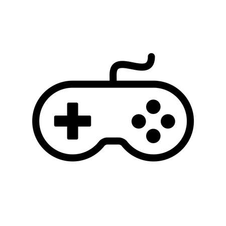 Gamepad controller icon isolated on white background Çizim