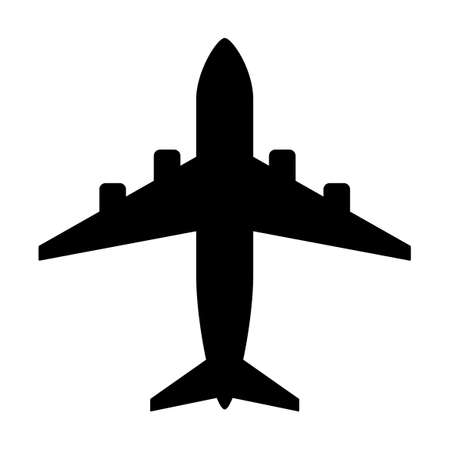 Plane icon isolated on white background Çizim