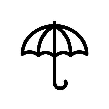 Umbrella line icon isolated on white background