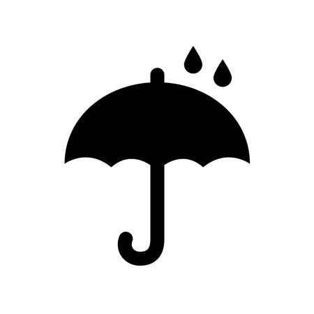 Umbrella icon isolated on white background