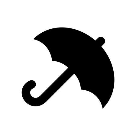 Umbrella icon isolated on white background