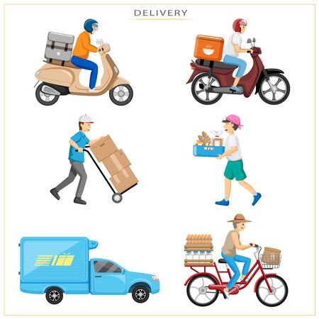 What you want, or what you want to eat, can be ordered and delivered to your home with various transportation.