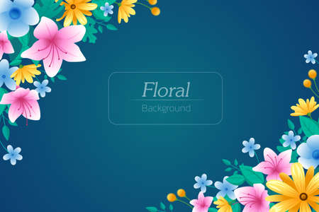 Vector background with spring blossom. space for text. birthday and other holiday and summer background. Vector illustration.