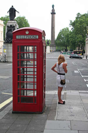 Red phone box in London Stock Photo - 16476792