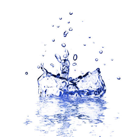 representing: water splash isolated on white