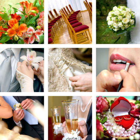 color wedding photos Stock Photo