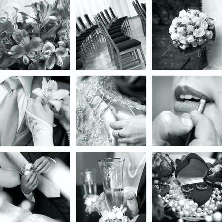 black and white wedding photos Stock Photo - 4428971
