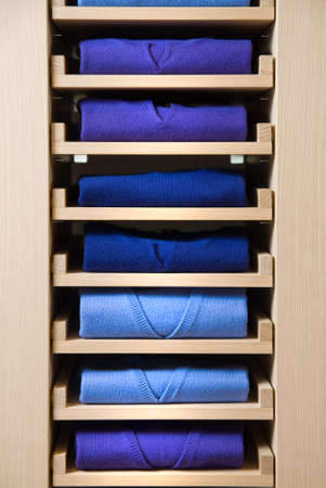 store shelf with color clothes Stock Photo - 4609526
