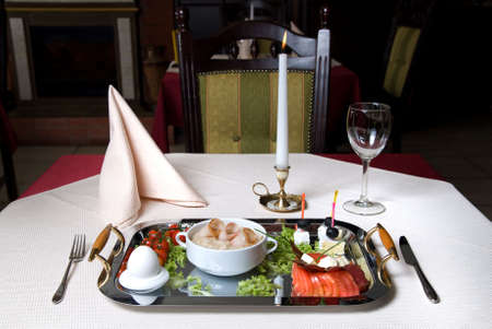 English breakfast on the plate in restaurant Stock Photo - 4798349