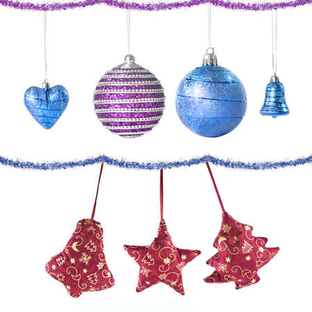 Christmas balls and decoration isolated on white Stock Photo - 6205684