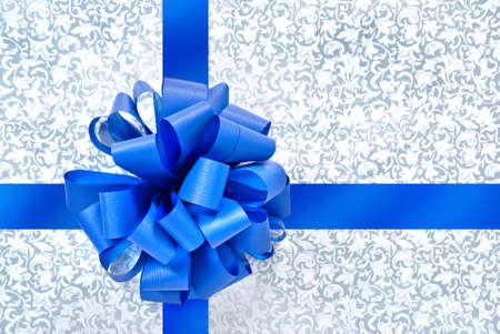 Blue bow from ribbon Stock Photo - 6205272